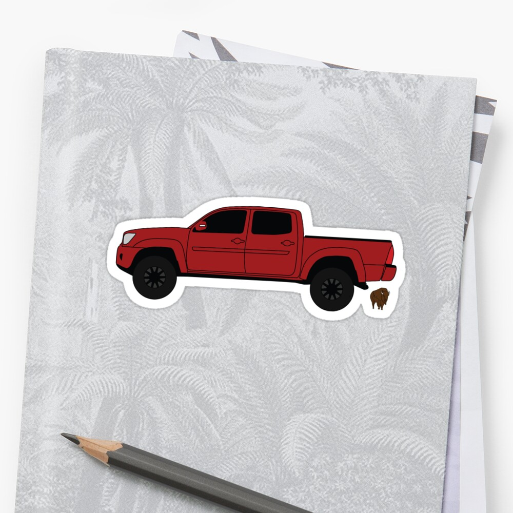 Red Toyota Tacoma by Noble Bison