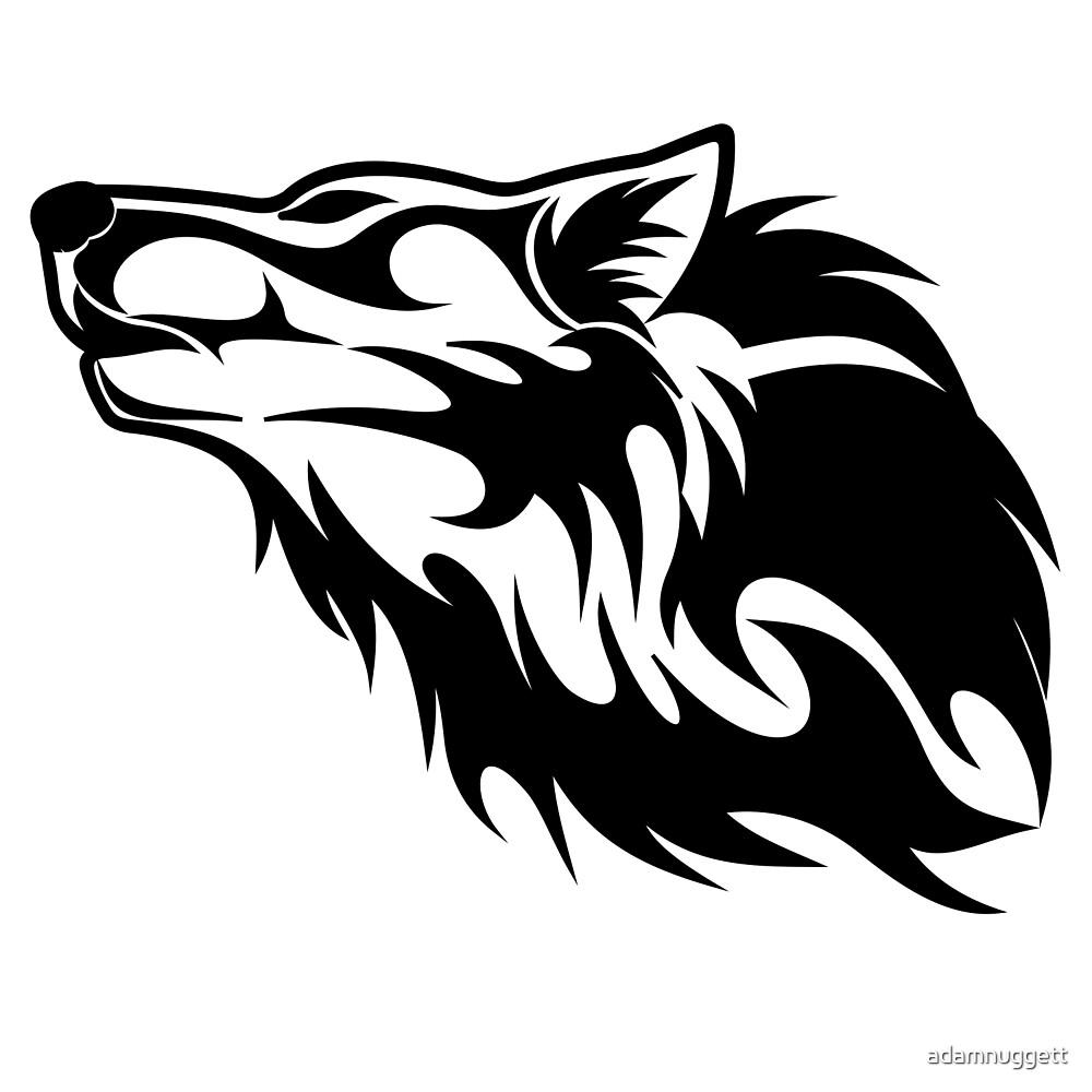 Wolf Dark Black by adamnuggett