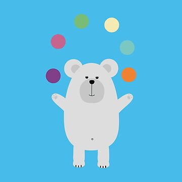 Polar Bear juggling by ilovecotton