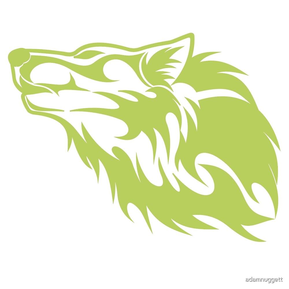 Wolf Light Green by adamnuggett