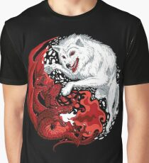 Dragon and Wolf Graphic T-Shirt