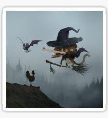 Tzika - witch Sticker