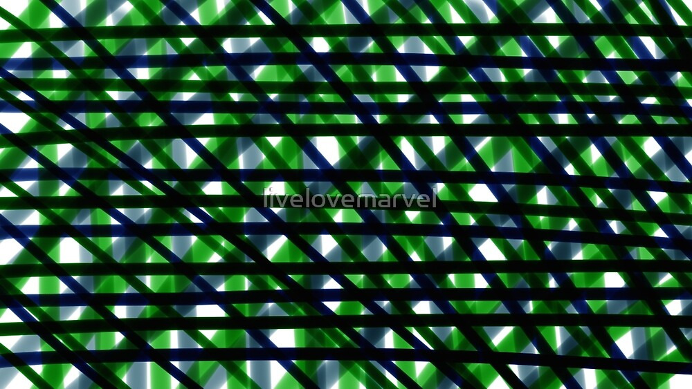 Green and Blue Plaid by livelovemarvel