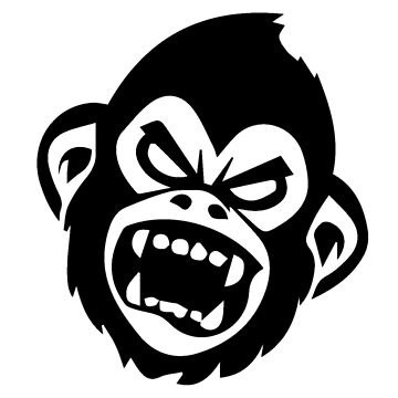 screaming monkey by ironmonkeyking