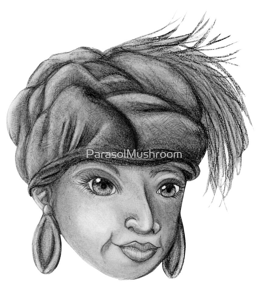 Gray-Scale Ethnic Woman  by ParasolMushroom
