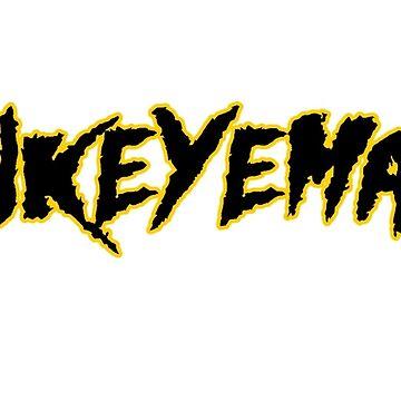 HAWKEYEMANIA (Black Text w/ Gold Outline) by hawkeyemania