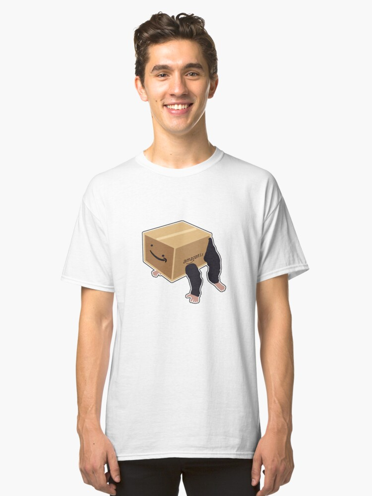 Delete This Amazon Cardboard Costume Classic T-Shirt Front