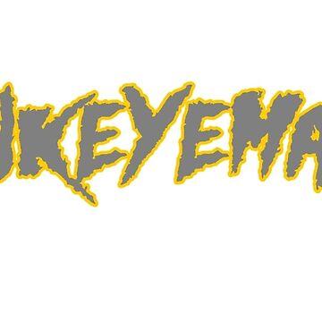 HAWKEYEMANIA (Gray Text w/ Gold Outline) by hawkeyemania