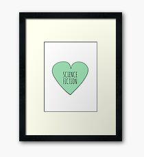 Science Fiction Love Framed Print