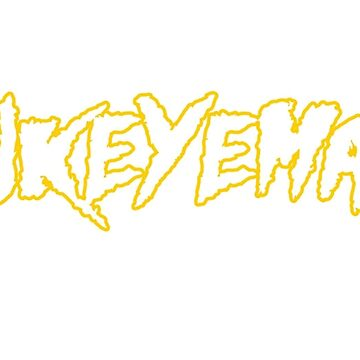 HAWKEYEMANIA (White Text w/ Gold Outline) by hawkeyemania