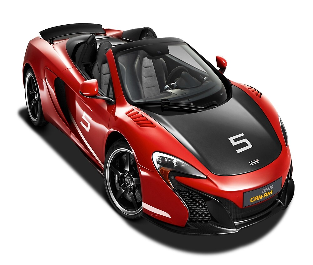 Red McLaren 650S Can Am Race Car by whomadewhat