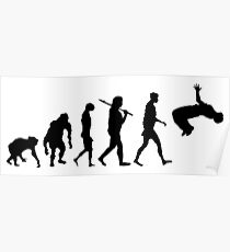 Parkour Evolution Free Running parkour Poster