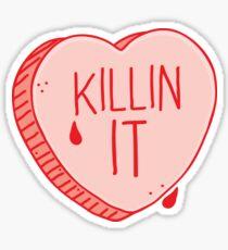 Killin' it candy heart Sticker
