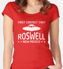 Roswell New Mexico Alien UFO  Women's Fitted Scoop T-Shirt