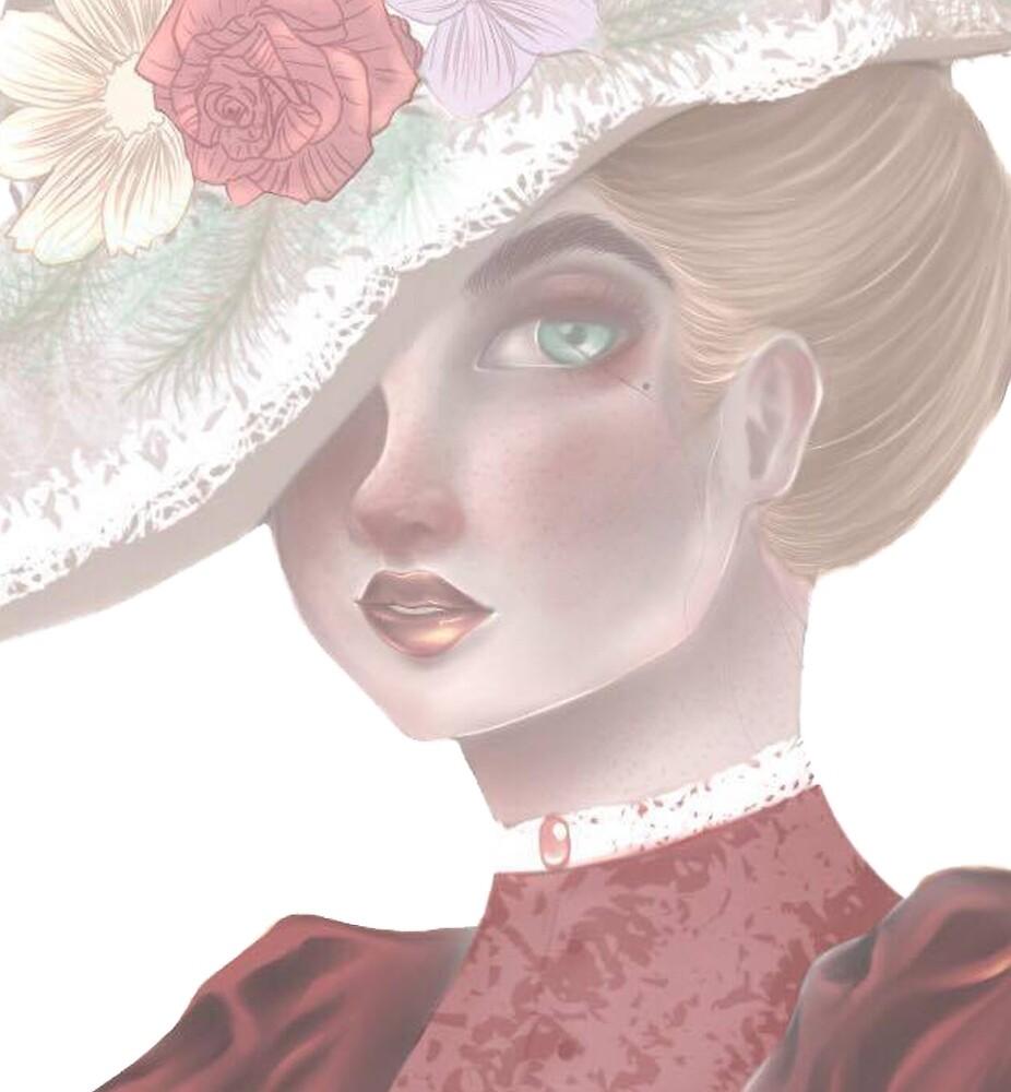 1980 Victorian Lady by AngelDrawsArt