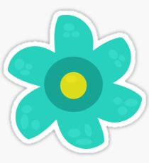 Turquoise Flower Sticker