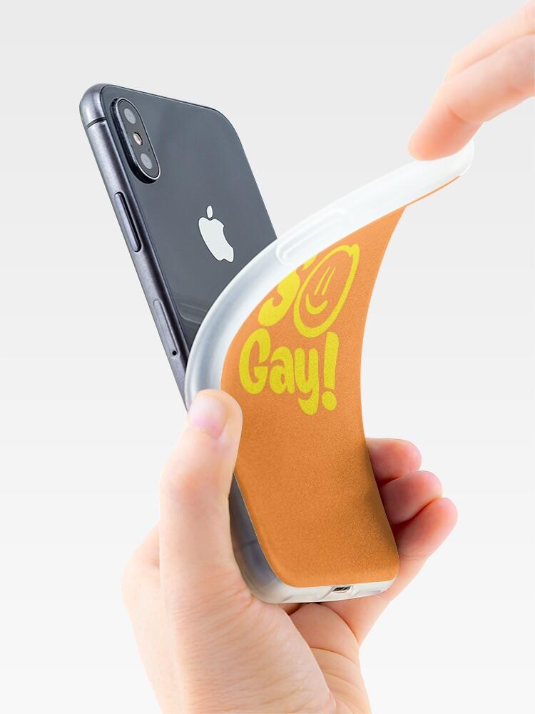 Alternative Ansicht von SO SCHWUL iPhone-Hülle & Cover