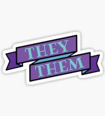 Gender Neutral Pronouns Stickers | Redbubble