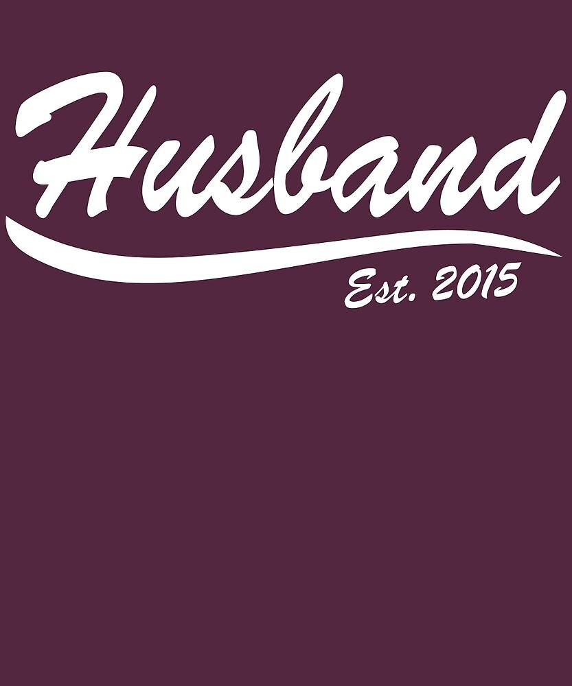 Husband Est Established 2015 Anniversary Gift T-Shirt by AlwaysAwesome