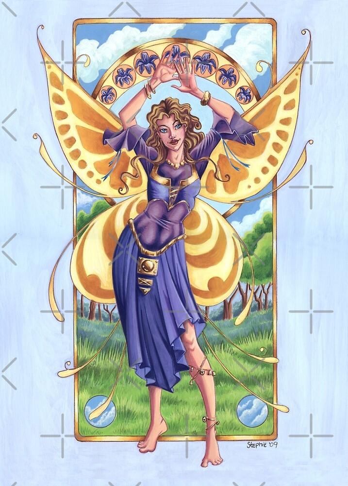 Art Nouveau Summer Time Fairy  by cybercat