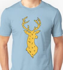 orange on blue deer Unisex T-Shirt