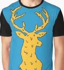 orange on blue deer Graphic T-Shirt