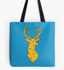 orange on blue deer Tote Bag