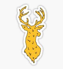 orange on blue deer Sticker