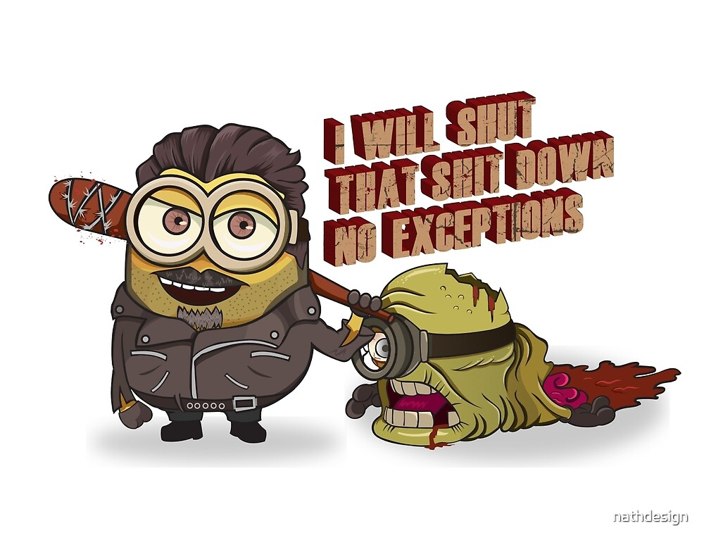 Negan and The Walking dead Minions by nathdesign