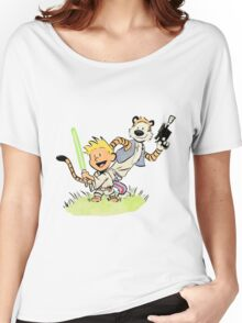 Calvin and Hobbes Star Wars Women's Relaxed Fit T-Shirt