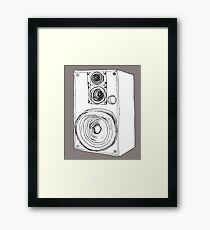 Classic 80s Analog Stereo Speaker  Framed Print
