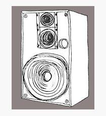 Classic 80s Analog Stereo Speaker  Photographic Print
