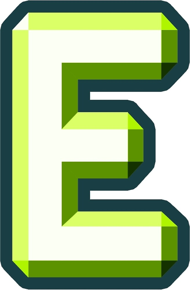 """""""E"""" with green 3D by Thomas Olsen"""