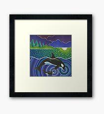 Orca Sonic Love Framed Print