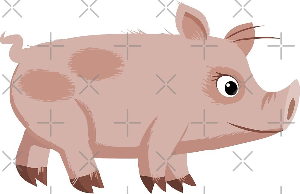 Sweet pig illustration by pixxart