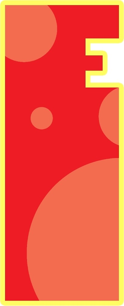 """Red letter """"E"""" with circles by Thomas Olsen"""