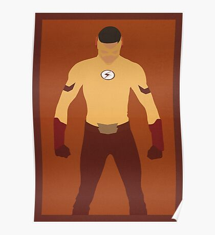 Kid Flash (Wally West) Minimalist Poster