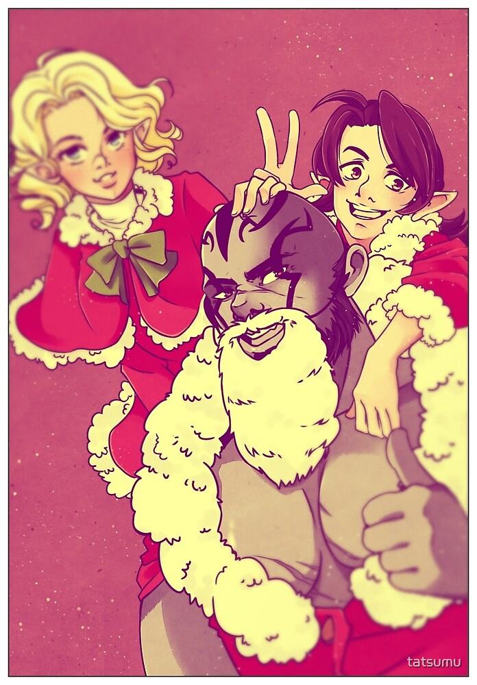 Happy Holidays - Grog, Pike and Scanlan by tatsumu