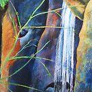 Falls St Bernards Tamborine -pastel by Virginia McGowan