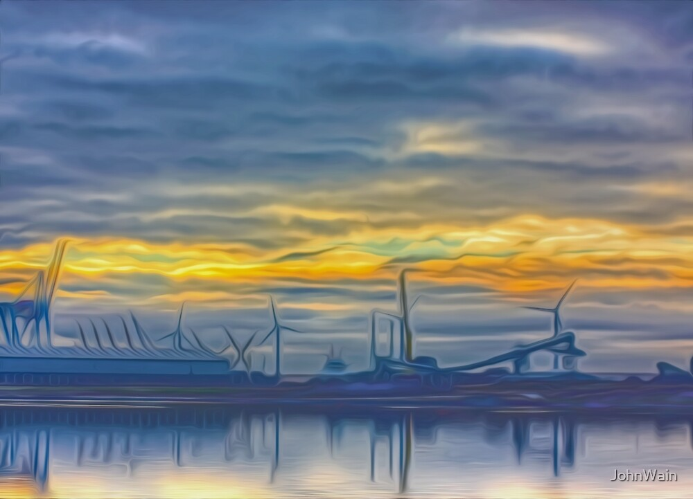 The Docks (Digital Art) by JohnWain