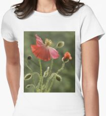 Red impression Womens Fitted T-Shirt