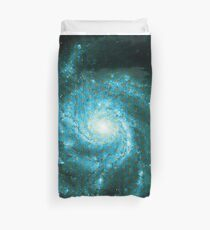 Pinwheel Galaxy [Blaue Version] | Heilige Geometrie Muster Bettbezug