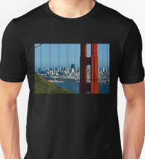 Iconic San Fransisco - Downtown Framed by Red Steel T-Shirt