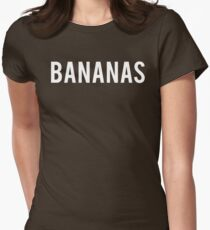 BANANAS Shirt  Womens Fitted T-Shirt