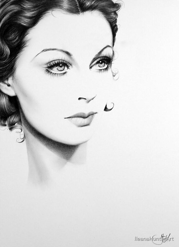 Vivien Leigh Minimal Portrait by IleanaHunterArt