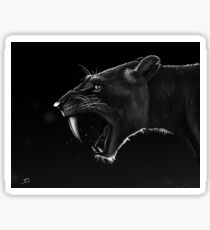 Sabre-toothed Sticker