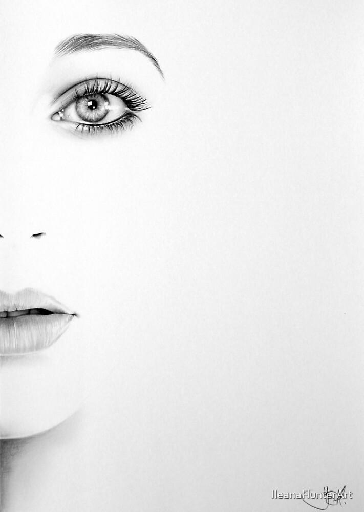 Kate Bush Half Series Minimal Portrait by IleanaHunterArt