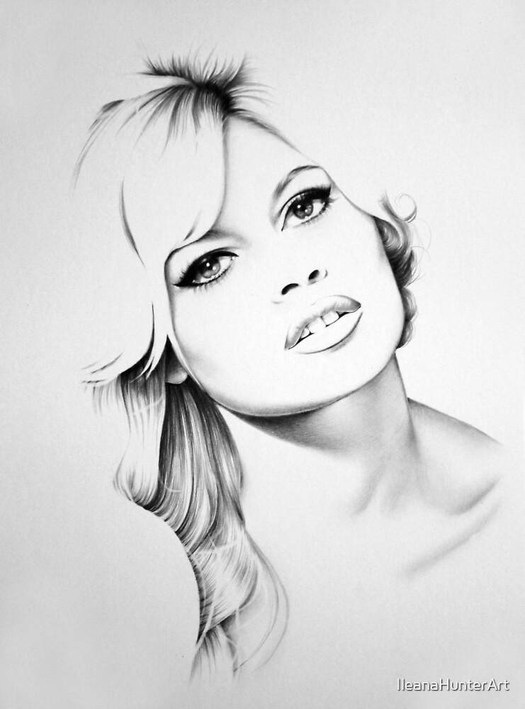 Brigitte Bardot Minimal Portrait by IleanaHunterArt
