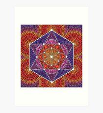 Fire Star- Genesis Pattern Art Print