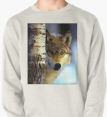 TIMBER WOLF; Vintage Wilderness Print Pullover